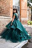Платье Елочка Длинное нарядное изумрудное платье Бетси, фото 3