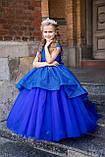 Платье Елочка Длинное нарядное изумрудное платье Бетси, фото 9