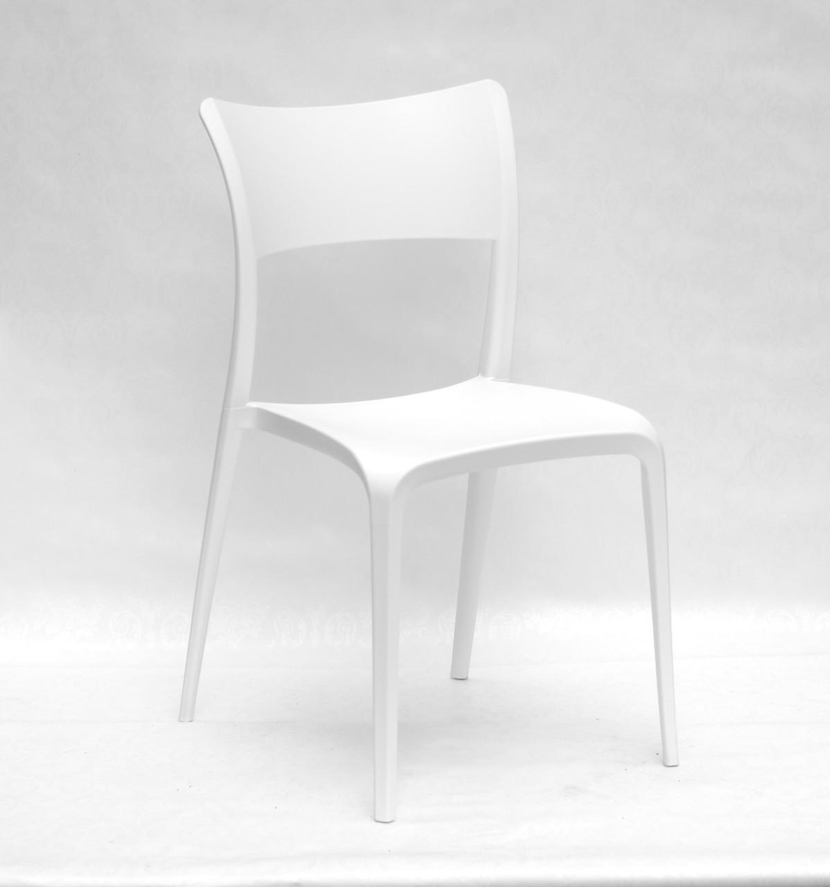 Стул моно-пластик Aster (Астер) белый, штабелируемый