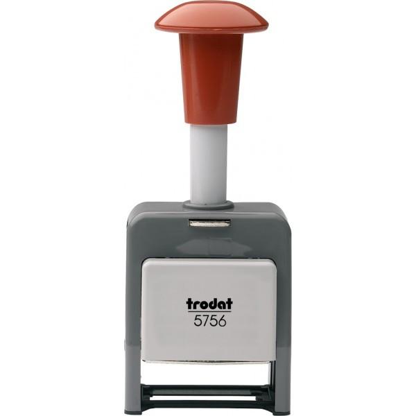Нумератор автоматический металлический 6-разрядный Trodat 5756 серый