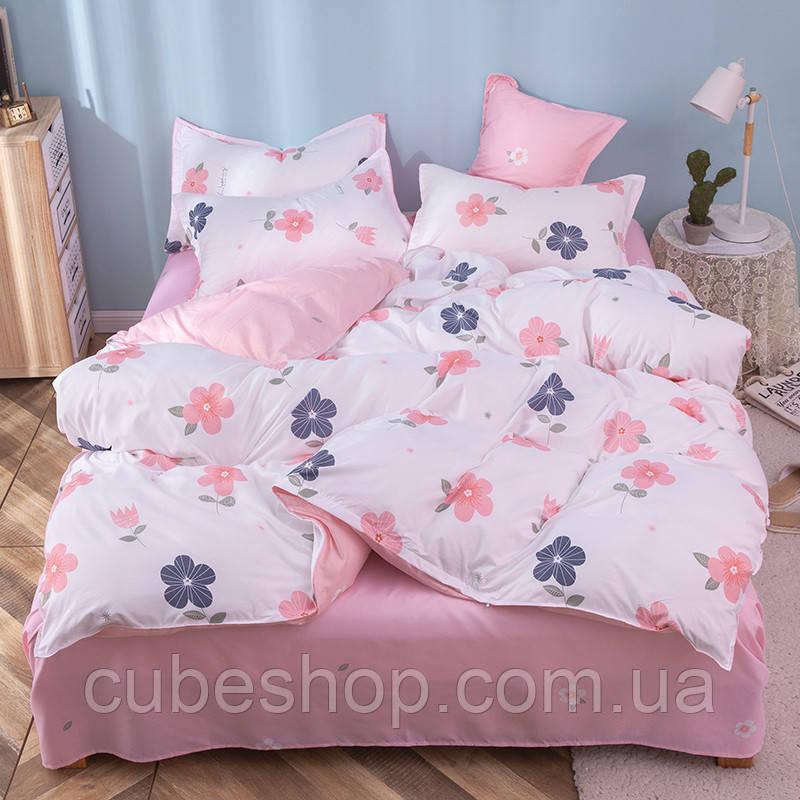 """Комплект постельного белья """"Нежный цветок"""" (двуспальный-евро)"""