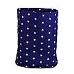 Мешок (корзина) для храниения, Ø35*45 см, (хлопок), с отворотом (звездочки на синем/звездочки на синем), фото 2