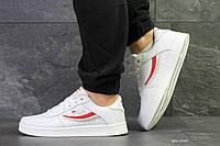 Мужские осенние кроссовки Fila,белые с красным