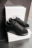 Кроссовки женские весенние осенние качественные модные Alexander McQueen Larry Black, фото 1