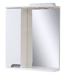 Зеркальный шкаф в ванную комнату Simple металлик 60