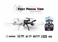 Радиоуправляемый квадрокоптер Syma X5SW-1 Black, White HD+ FPV с HD WI-FI камерой на пульте управления! Лучшая цена
