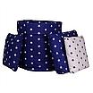 Мешок (корзина) для хранения, Ø45 * 40 см, (хлопок), с отворотом (звездочки на синем / звездочки на синем), фото 3