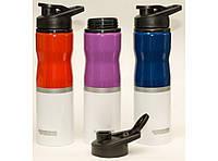 Т47 Бутылка 750 мл + поилка, Бутылочка для питья, Спортивная бутылка с поилкой, Бутылка для воды! Лучшая цена