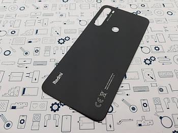 Крышка Xiaomi Redmi Note 8 черная Сервисный оригинал с разборки