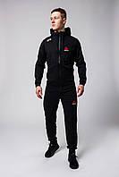 Мужской Весенний спортивный костюм Reebok UFC (черный и серый)