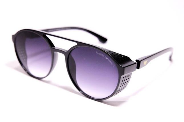 Мужские солнцезащитные очки Armani ARM 1807 C1 овальные чёрные, фото 2