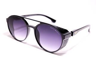 Мужские солнцезащитные очки Armani ARM 1807 C1 овальные чёрные