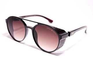 Мужские солнцезащитные очки Armani ARM 1807 C2 овальные коричневые