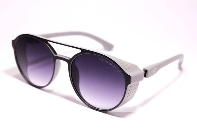 Мужские солнцезащитные очки Armani ARM 1807 C3 овальные белые, фото 2