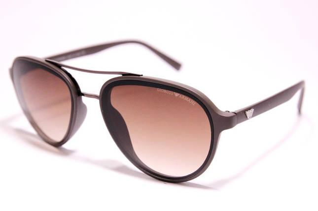 Мужские солнцезащитные очки Armani 174 C2 авиаторы коричневые, фото 2