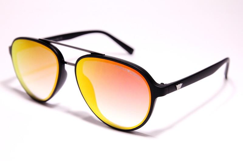Чоловічі сонцезахисні окуляри Armani 174 C5 авіатори жовті з градієнтом