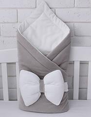 Плед-конверт из велюра с бантиком-подушкой (90*90 см)