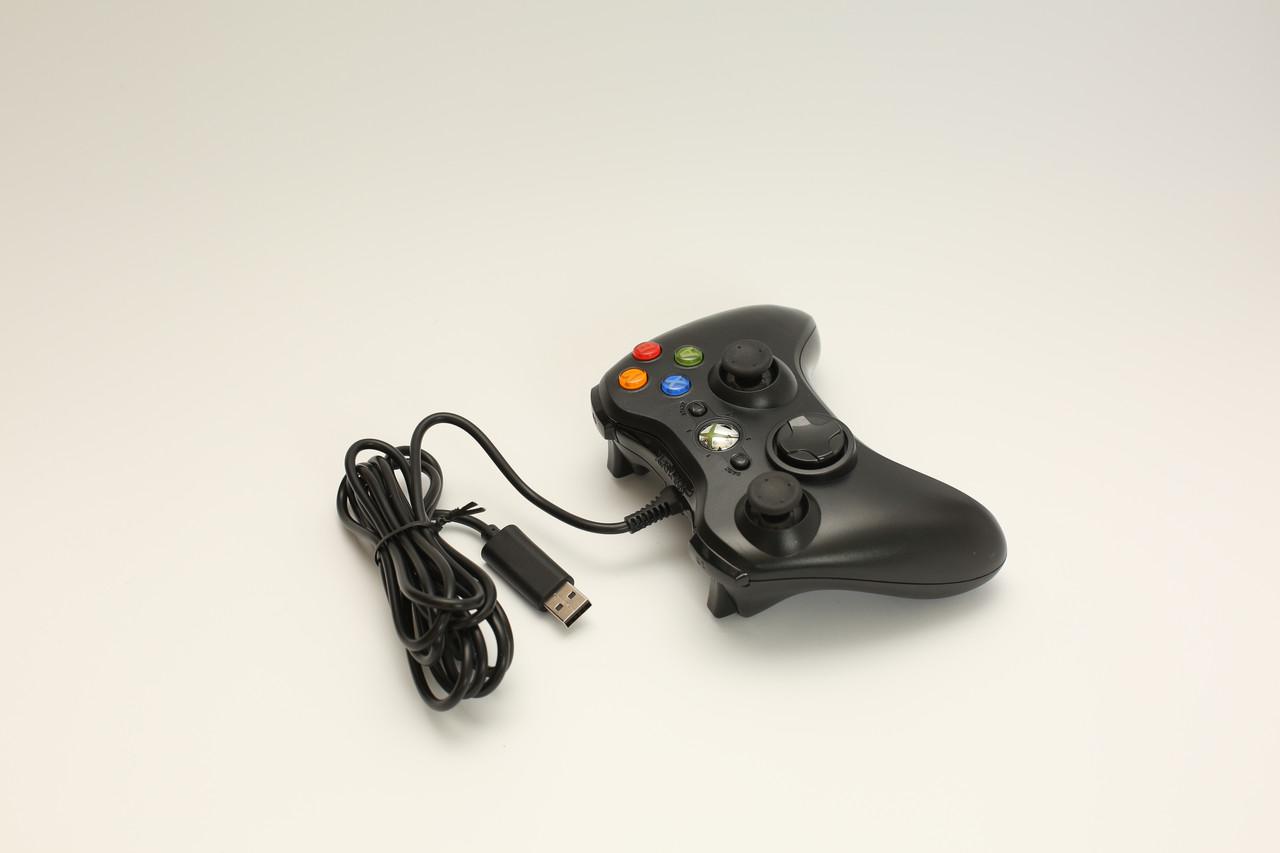 Проводной джойстик геймпад Controller для XBOX 360 компьютера ПК  Microsoft Черный