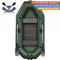 Надувная лодка Kolibri К-240 со слань-ковриком двухместная, баллон 34, ПВХ 950