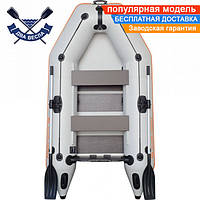 Моторная надувная лодка Kolibri КМ-260 двухместная со слань-ковриком