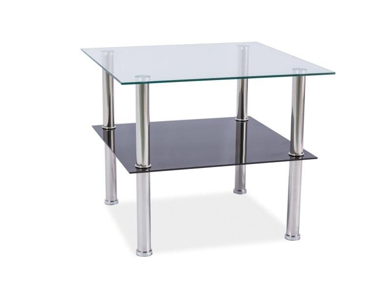 Журнальный стол TESSA прозрачный 60X60X55 (Signal)