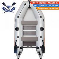 Моторная надувная лодка Kolibri КМ-300 трехместная со слань-ковриком, баллон 42