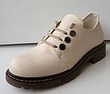 Туфли женские на низком каблуке из натуральной кожи от производителя модель ДИС-К7, фото 3