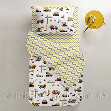 Комплект детского постельного белья Cosas 3 предмета BUILDING /зигзаг серо-желтый/