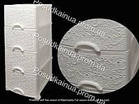 Комод пластиковый серия Ажур белый 4 ящика Efe Plastics