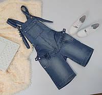 Легкий джинсовый летний комбинезон для беременных 42-48 р