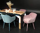 Кресло VIENA велюр голубой Nicolas (бесплатная доставка), фото 8