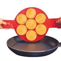 Силиконовая форма/блинница FLIPPIN FANTASTIC, Форма для блинов, аладий, сырников, Форма для жарки яиц! Лучшая цена