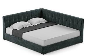 """М'яке ліжко """"Лео"""" 160х200 від Шик-Галичина"""