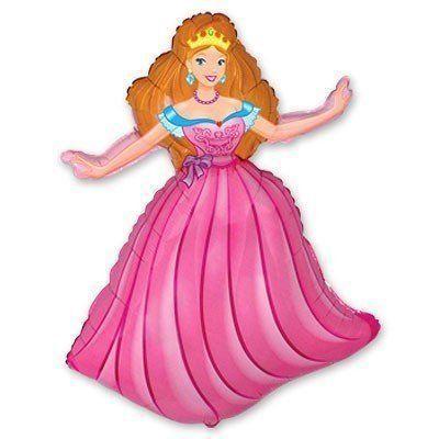 Фольгована кулька міні-фігура Принцеса 36х25 см Flexmetal