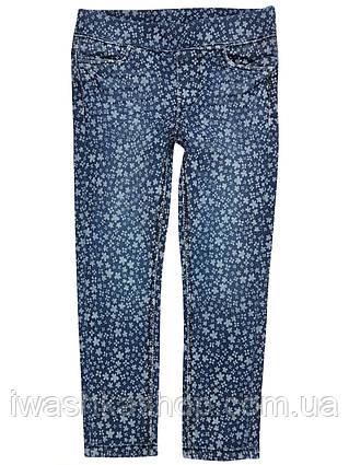 Стильні джинси slim fit в квіточку на дівчинку 3 - 4 років, розмір 104, Kiki&ko ko / KIK