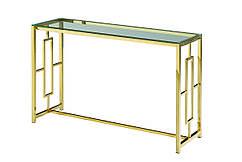 Консоль CL-3 прозрачный+золото