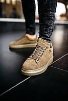 Кроссовки мужские весенние осенние качественные модные Alexander McQueen Larry Khaki