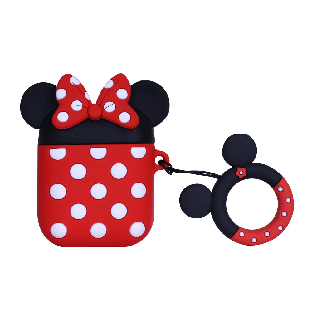 Силиконовый чехол для наушников AirPods Emoji Minnie Mouse