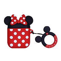 Силиконовый чехол для наушников AirPods Emoji Minnie Mouse, фото 1