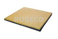 Резиновая плитка 500х500х30 мм  TM Rubeco. Резиновые плиты желтые 50х50х3 см