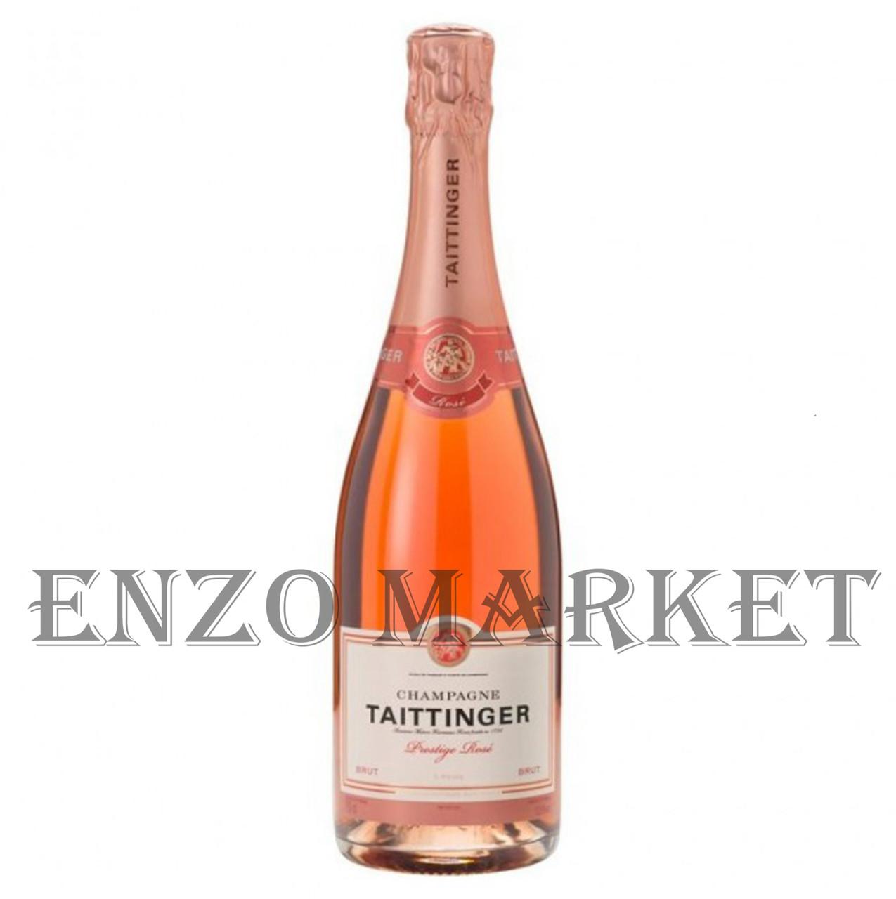 Шампанское Taittinger Rose Brut (Тэтэнже Розе Брют) 12.5%, 0,7 литра