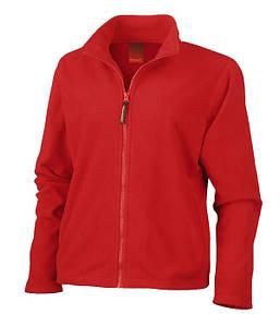 Женская микрофлисовая кофта S Красный