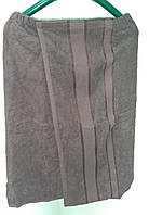 Парео мужское банное махровое (коричневое) 75*140