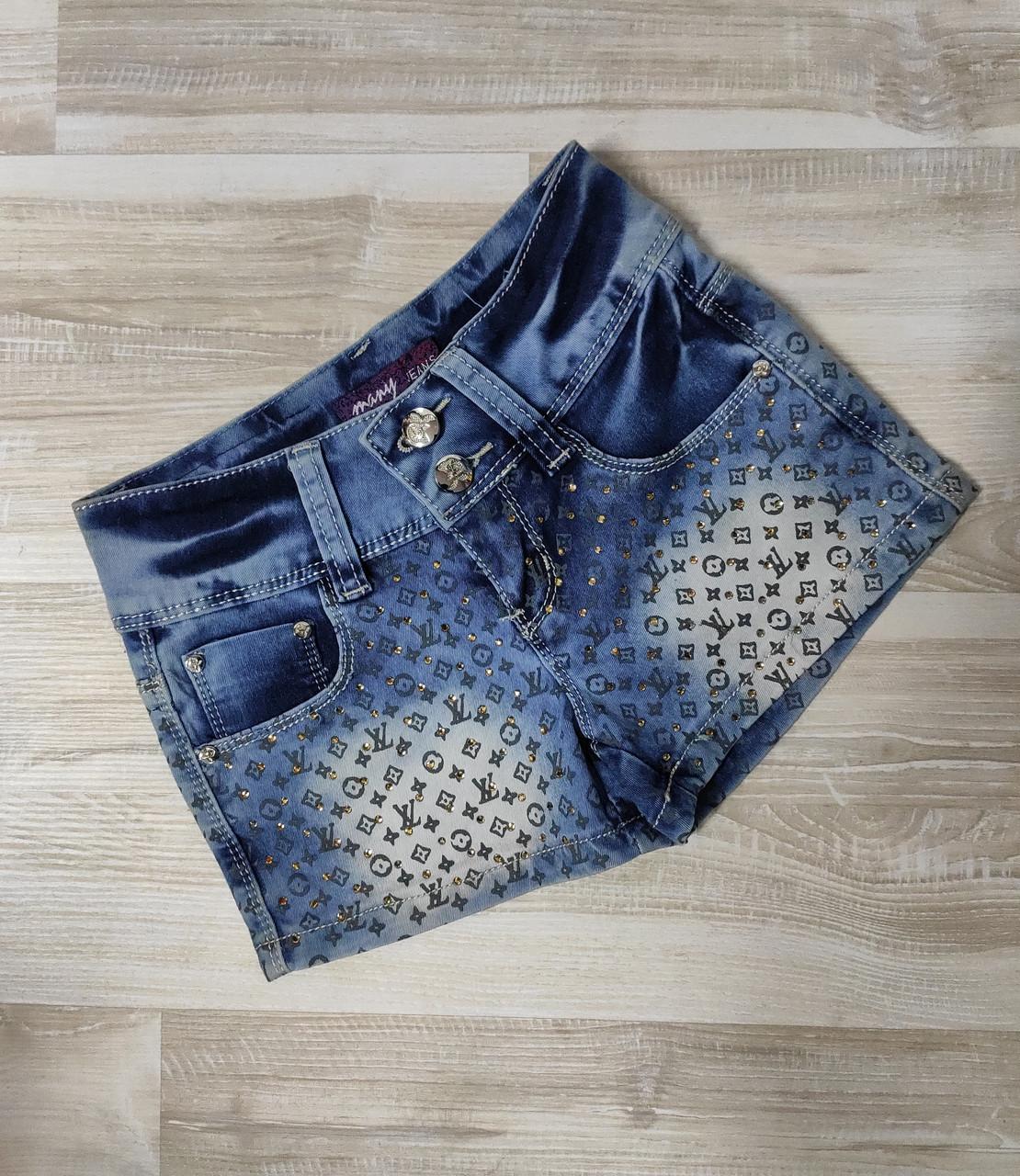 Шорты джинсовые для девочки арт 701 размер 22.