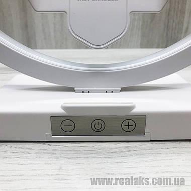 Многофункциональная настольная лампа + беспроводная зарядка (White), фото 3