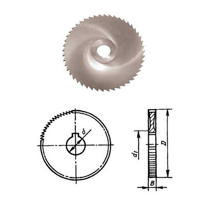 Фреза дисковая отрезная ф 160х2.0х32 мм Р6М5 z=128 прорезной зуб, со ступицей, с ш/п Китай