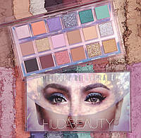 Тени HUDA BEAUTY MERCURY RETROGRADE EYESHADOW PALETTE: 18 оттенков (реплика)