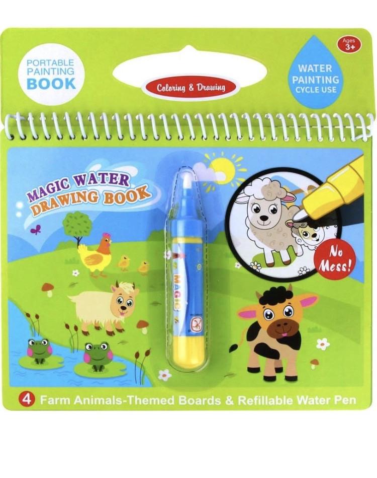 Водная раскраска для детей Magic Water. Животные
