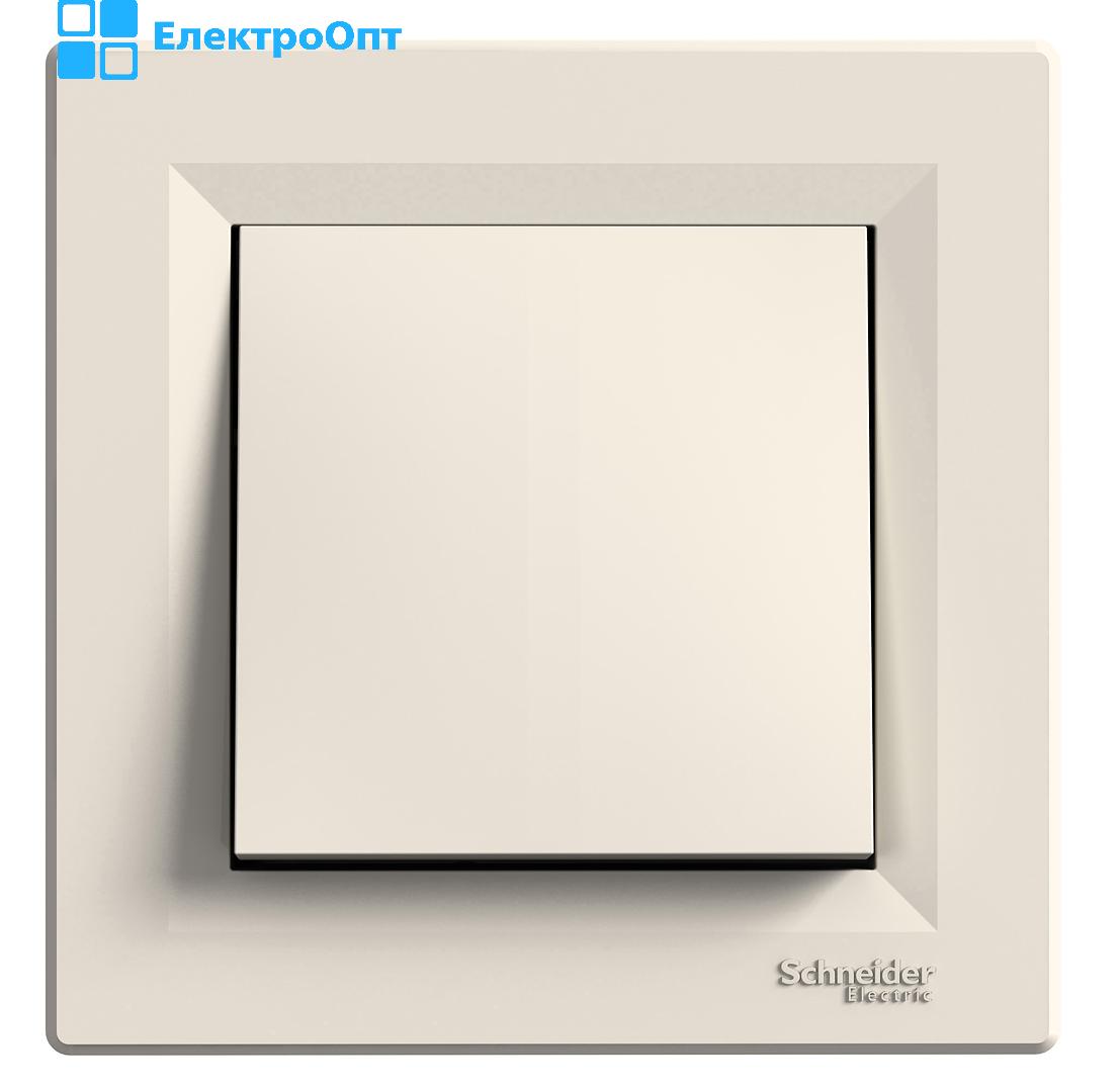 Выключатель одноклавишный кремовый EPH010012 ASFORA  Schneider