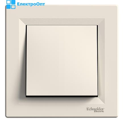 Выключатель одноклавишный кремовый EPH010012 ASFORA  Schneider, фото 2